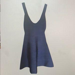 """Hervé Leger Pacific Blue """"Eva"""" Cocktail Dress"""